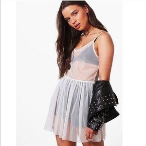 Boohoo mesh shirt/dress
